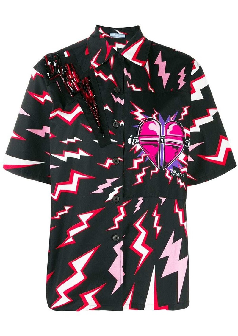 Prada lightning bolt shirt