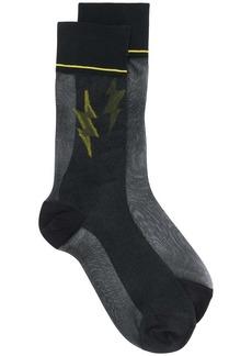 Prada lightning bolt socks