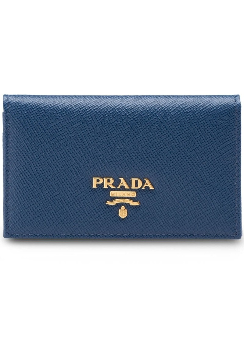 Prada logo cardholder wallet
