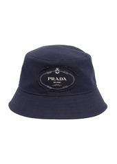 Prada Logo Cotton Canvas Bucket Hat