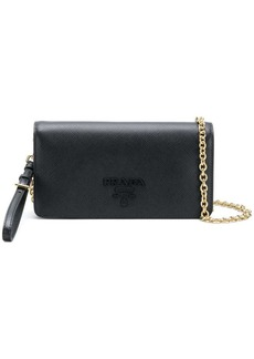 Prada logo flap shoulder bag