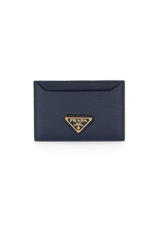 Prada Logo Grained Leather Card Case