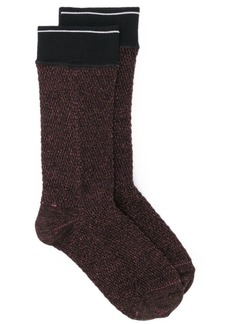 Prada logo knitted socks