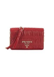 Prada Logo Leather Crossbody Bag