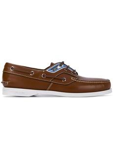 Prada logo-panel boat shoes
