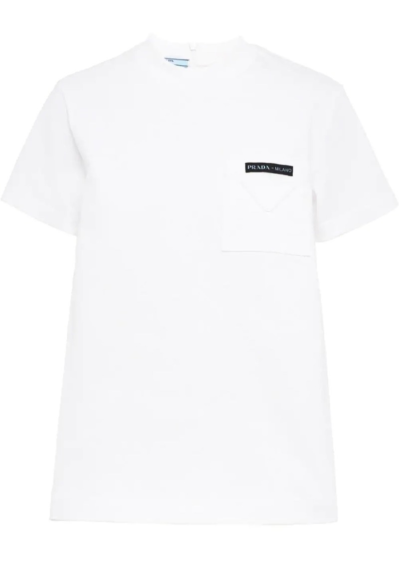 Prada logo patch pocket T-shirt