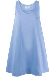 Prada logo patch shift dress