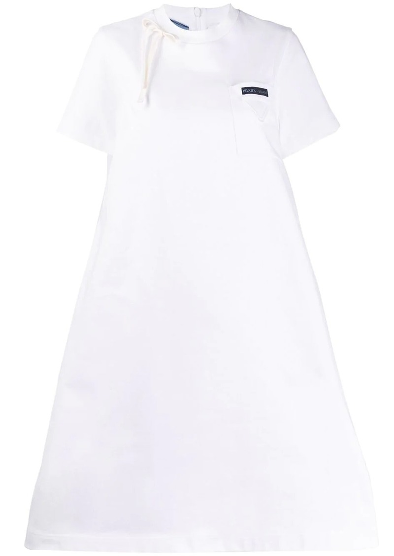 Prada logo patch T-shirt dress