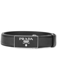 Prada Saffiano logo belt