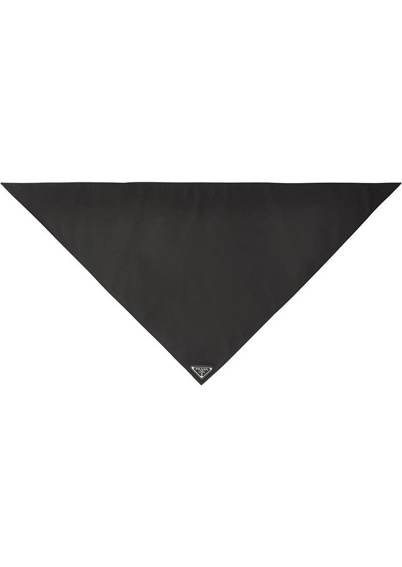Prada logo plaque foulard