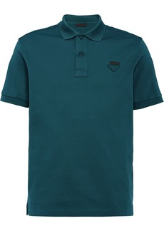 Prada logo plaque polo shirt