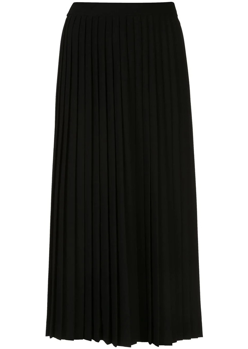 Prada logo pleated skirt