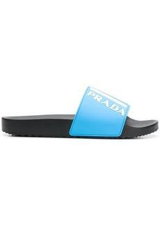 Prada logo slide sandals