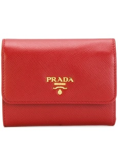 Prada logo trifold wallet
