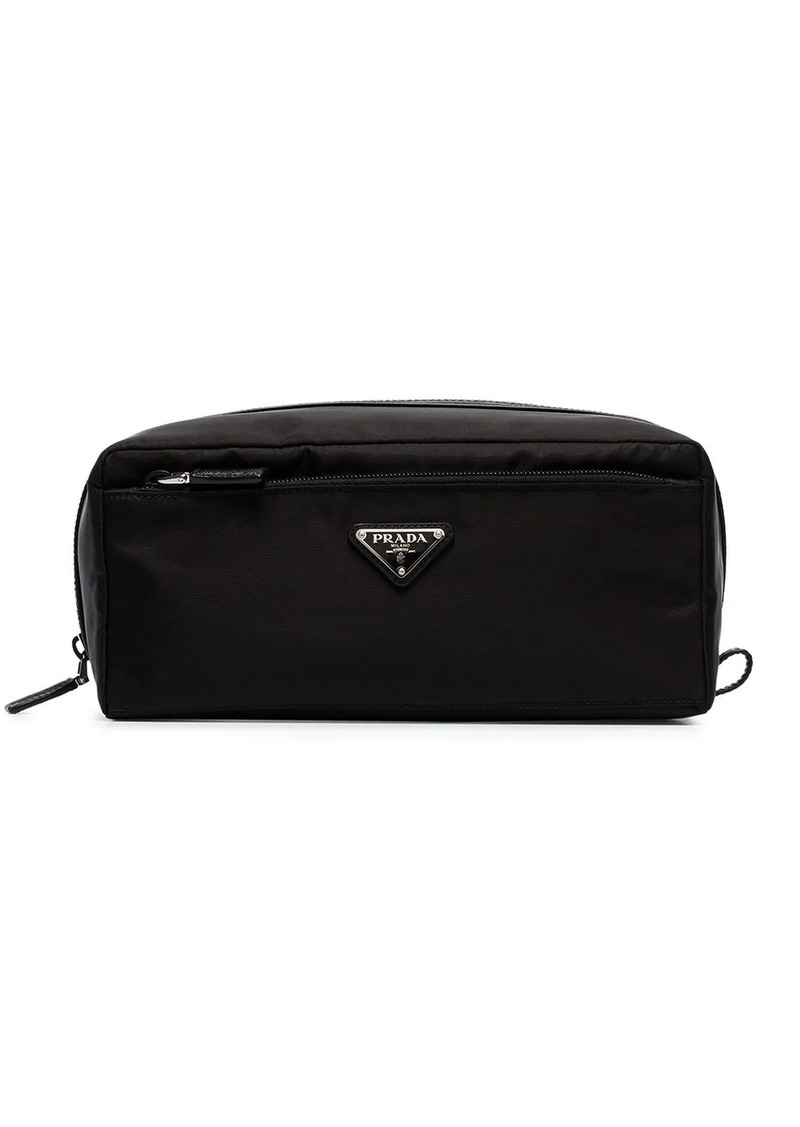 Prada logo wash bag