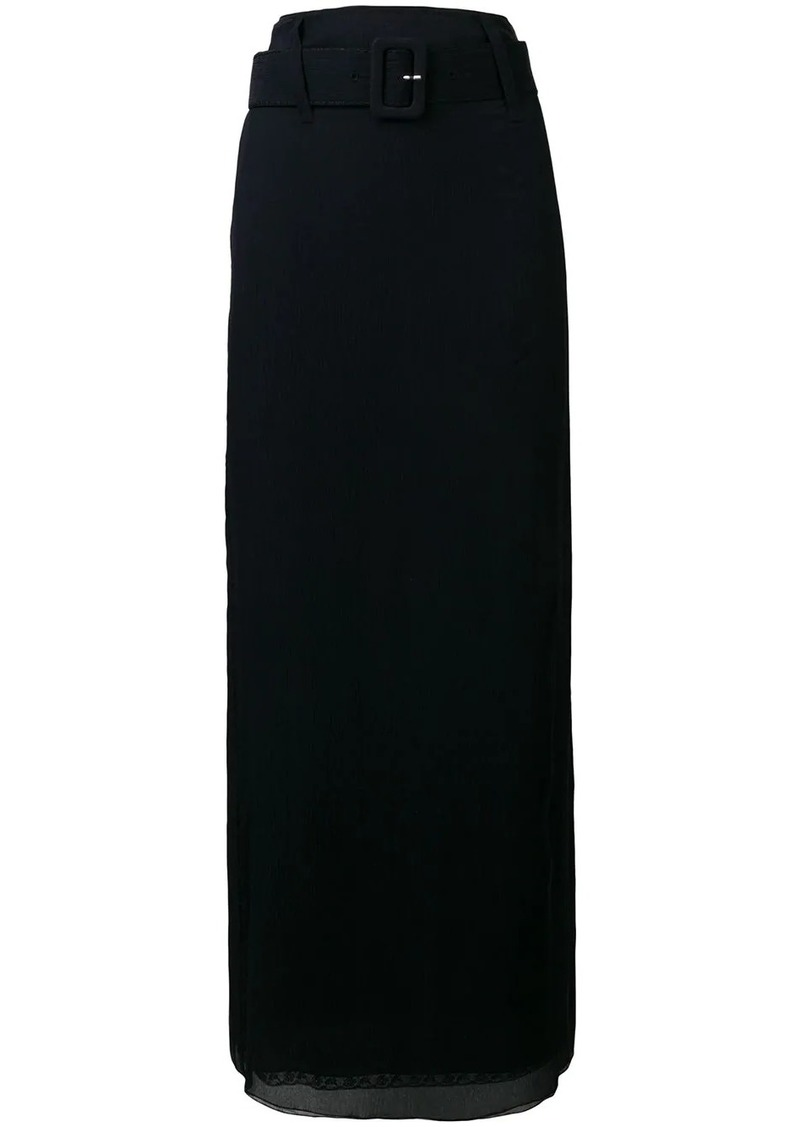 Prada long high-waisted skirt