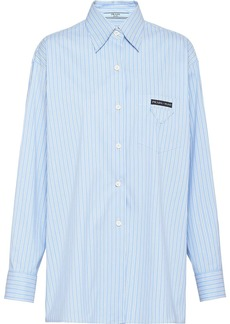 Prada long-line pinstriped shirt