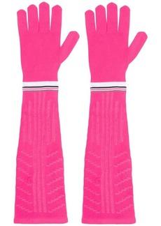 Prada long logo gloves