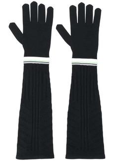 Prada long technical gloves
