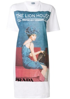 Prada Longline Lion House T-shirt dress