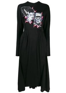 Prada longsleeved printed dress