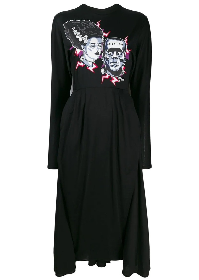 Prada longsleeved printed dress