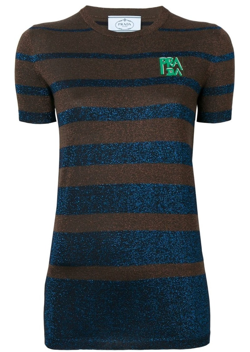 Prada lurex stripes top