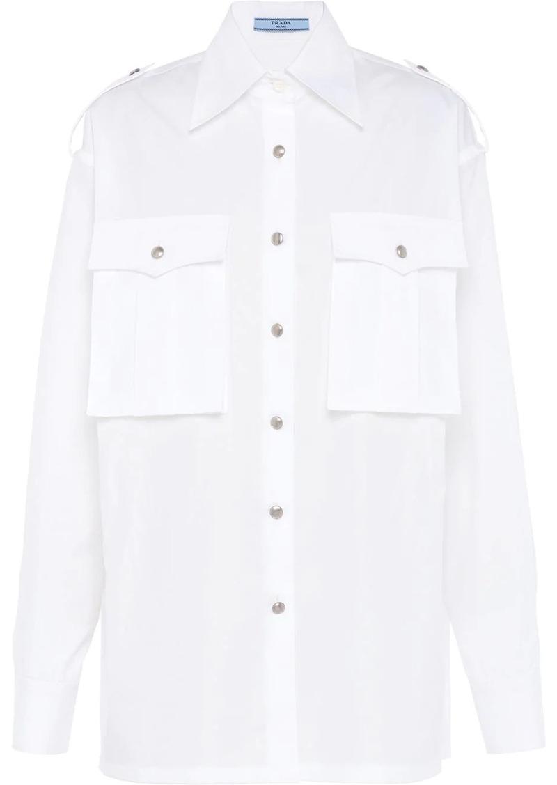 Prada men-style poplin shirt