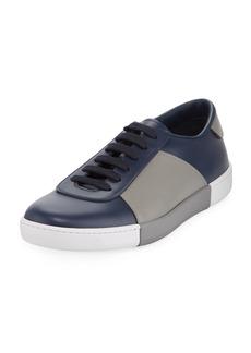 Prada Men's Colorblock Leather Low-Top Sneakers  Blue