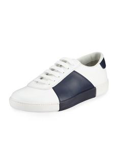 Prada Men's Colorblock Leather Low-Top Sneakers