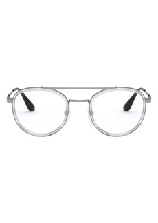 Men's Prada 49mm Aviator Optical Glasses - Transparent