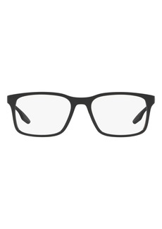 Men's Prada 52mm Rectangular Optical Glasses - Black