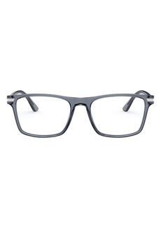 Men's Prada 54mm Rectangular Optical Glasses - Grey