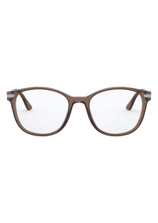 Men's Prada 54mm Round Sunglasses - Brown
