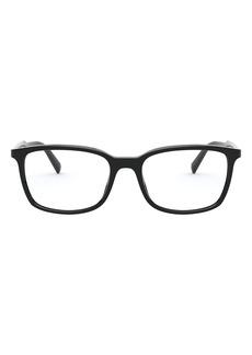 Men's Prada Pillow 55mm Optical Glasses - Black
