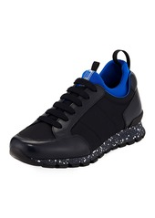 Prada Men's Speckled Nylon & Leather Trainer Sneakers
