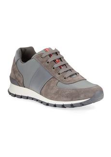 Prada Men's Suede Trainer Sneakers
