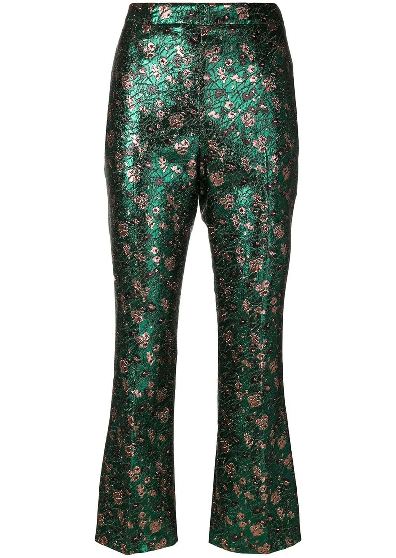 Prada metallic jacquard trousers