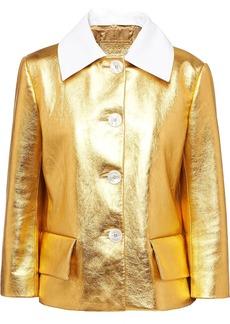 Prada metallic short buttoned jacket