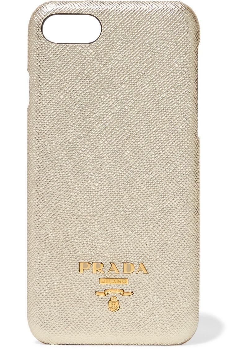 d0ccc8ec411c Prada Metallic Textured-leather Iphone 7 And 8 Case | Misc Accessories
