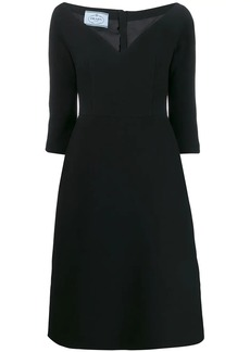 Prada mid-length v-neck dress