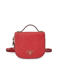 Prada Mini Odette Textured Leather Backpack