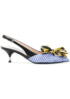 Prada miss-matched bow pumps