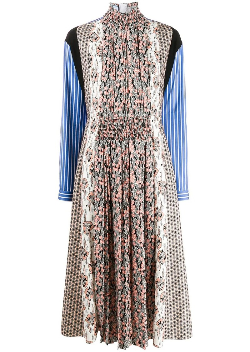 Prada mixed print dress