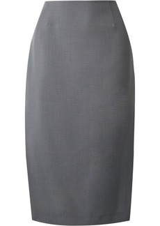 Prada Mohair And Wool-blend Pencil Skirt