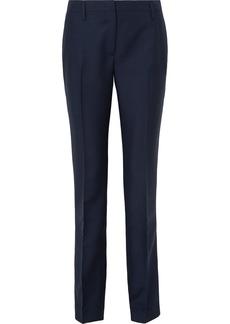 Prada Mohair And Wool-blend Straight-leg Pants