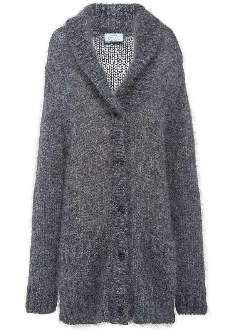 Prada shawl collar knitted cardigan