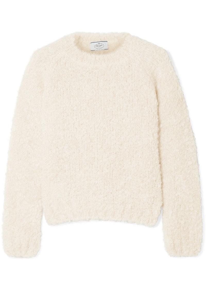 Mohair, Cashmere And Silk-blend Bouclé Sweater