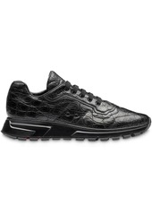 Prada monochrome lace-up sneakers