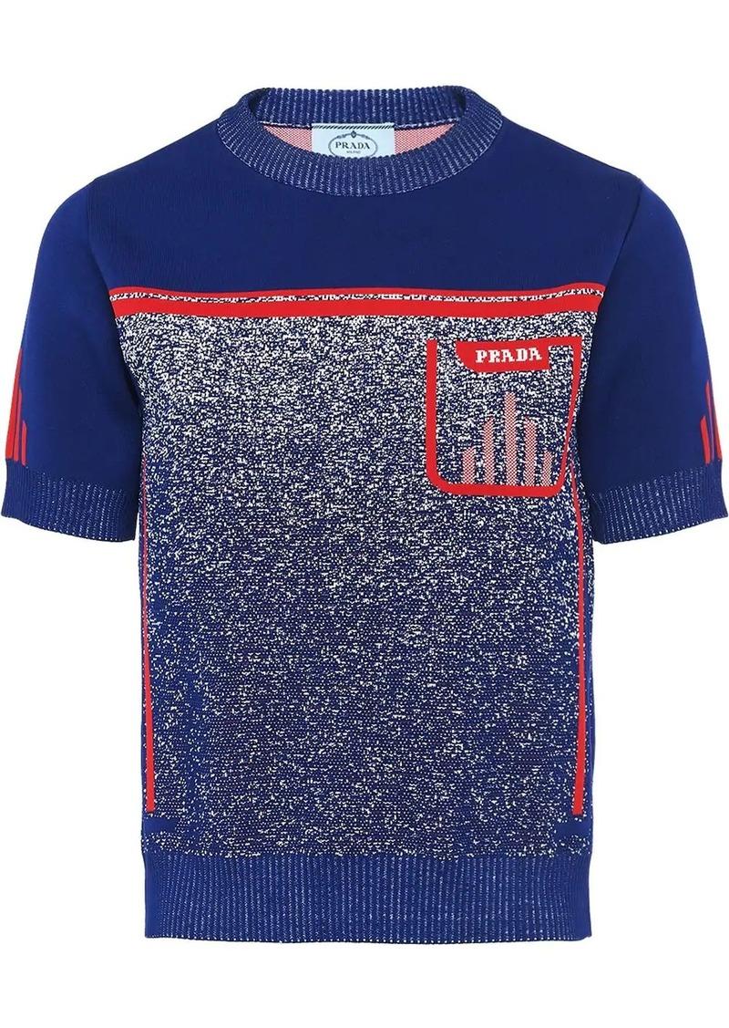Prada Mouliné jacquard T-shirt